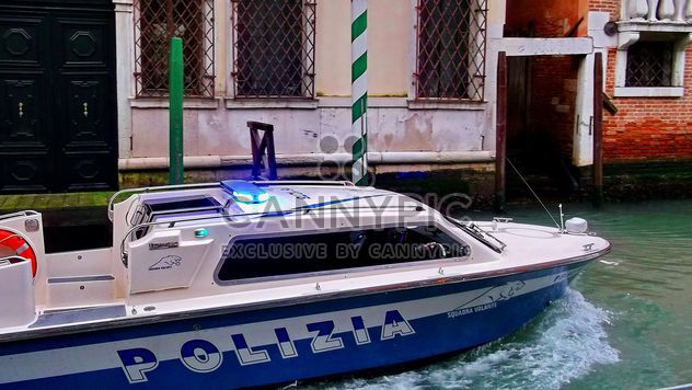 Police Boat on Venice channel - Free image #334969