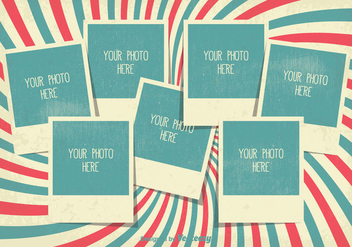 Retro Style Photo Collage Template - vector gratuit #335289