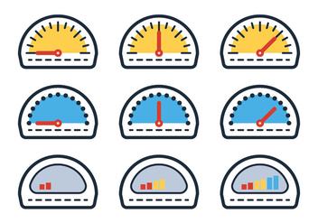 Outline Fuel Gauge - Kostenloses vector #335299