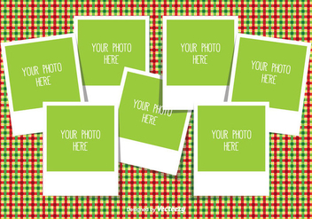 Christmas Photo Collage Template - vector gratuit #335349
