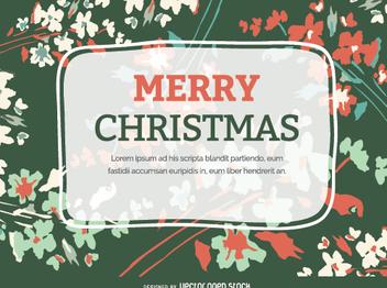 Christmas Flourish postcard - Free vector #335669