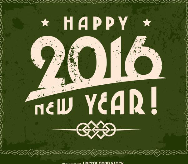 Grunge 2016 happy new year design - Kostenloses vector #335709