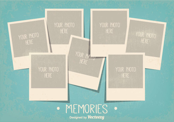 Vintage Style Photo Collage Template - vector gratuit #335749