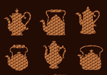 Arabic Coffee And Tea Pot - Kostenloses vector #335809