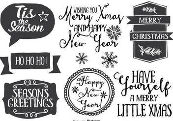 Hand Drawn Christmas Label Set - vector #335829 gratis