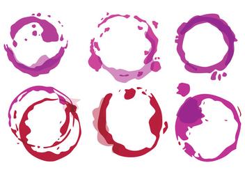 Wine Stain Vectors - Free vector #335959