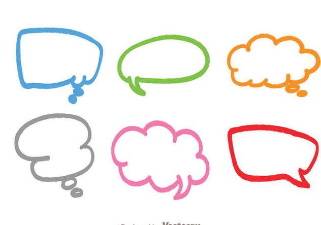colorful callout free vector download 335999 cannypic vector bubbles free vector chat bubble