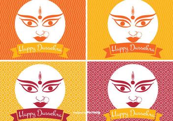Happy Dussehra Label Set - Kostenloses vector #336179