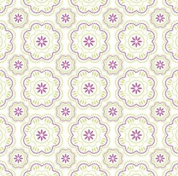 Purple Green Abstract Flower Pattern - Kostenloses vector #336359
