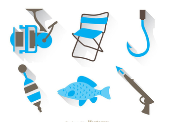 Fishing Duo Tones Colors Icons - Free vector #336549