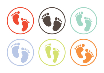 Baby Footprint vector - Free vector #336619