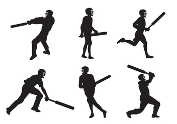 Cricket Players - Free vector #336639