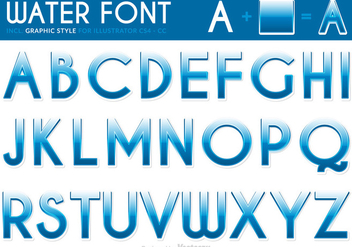 Free Water Font Vector - Free vector #336709