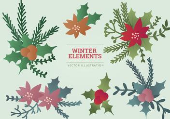 Vector Winter Elements Illustration - Free vector #336779