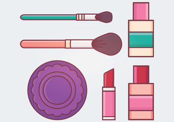 Makeup Vector Illustration - бесплатный vector #336789