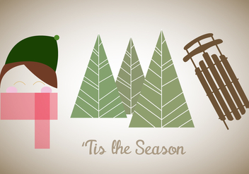 Free 'Tis The Season Vector - Free vector #336829