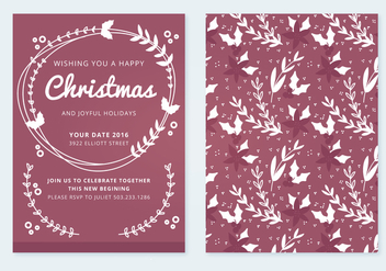 Christmas Vector Card - vector gratuit #336859