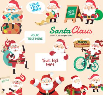 Santa Claus Character set - vector gratuit #336909