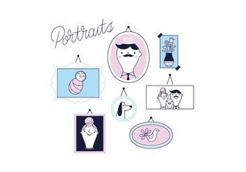 Free Portraits Vector - Kostenloses vector #337019