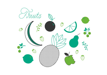 Free Fruits Vector - vector gratuit #337039