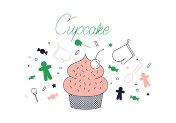 Free Cupcake Vector - Free vector #337049