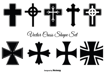 Assorted Cross Shape Set - Free vector #337109