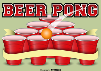 Beer pong template background - vector gratuit #337129