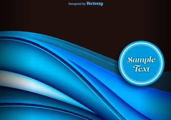 Blue abstract waves background - vector gratuit #337149