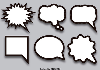 Blank callout set - Free vector #337159