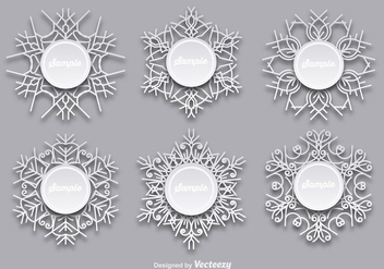 Snowflakes templates - Free vector #337169
