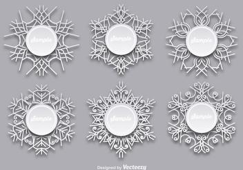 Snowflakes templates - бесплатный vector #337169