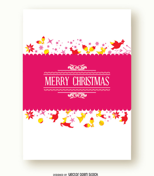 Christmas card - vector gratuit #337209