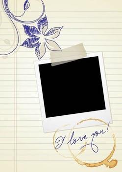 Polaroid Doodle Love Memories - бесплатный vector #337219