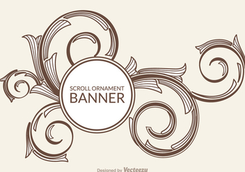 Free Scroll Ornament Vector Banner - Free vector #337589