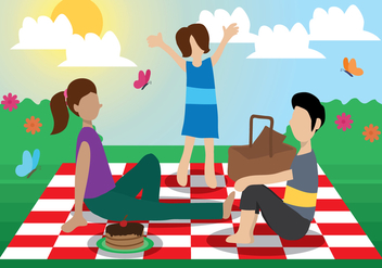 Family Picnic Vector - бесплатный vector #337609