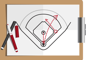 Baseball Diamond Vector - Free vector #337649