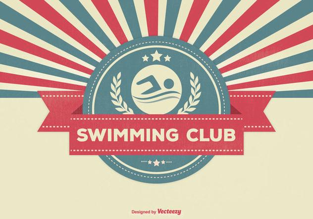 Swimming Club Retro Illustration - бесплатный vector #337669