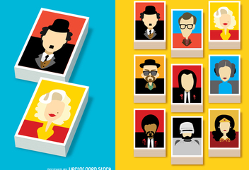 Famous film character avatars - Free vector #337779