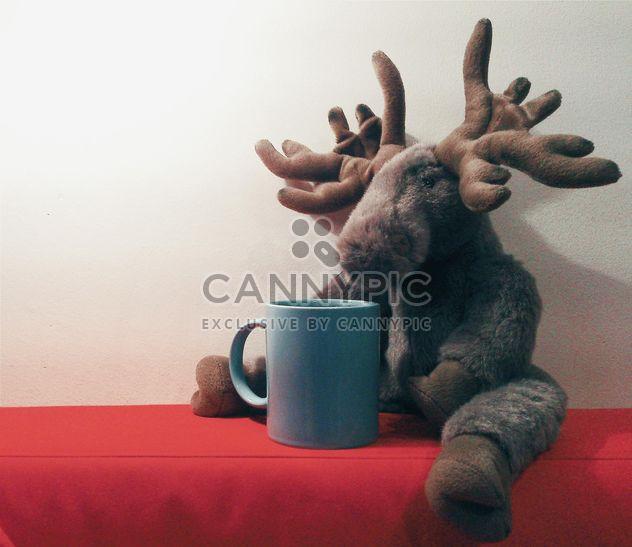 Plüsch-Elch und cup - Kostenloses image #337909