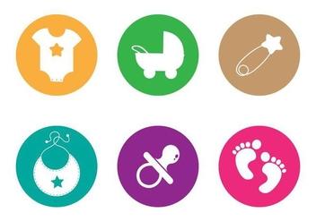 Baby Footprints Vector - Free vector #338019