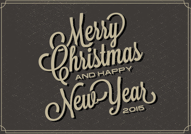 Free Christmas Typography Vector Backgorund - vector gratuit(e) #338039