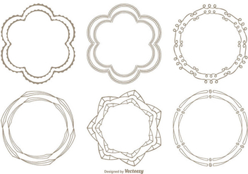 Cute Hand Drawn Style Frame Set - Free vector #338079