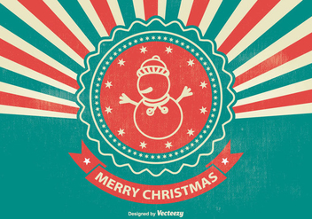 Vintage Style Christmas Illustration - Free vector #338169