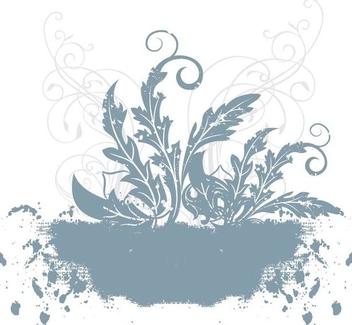 Grungy Floral Plants Landscape - Free vector #338179