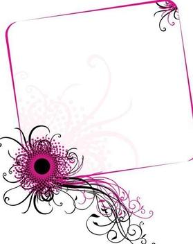 Swirling Corner Floral Frame - vector gratuit #338189
