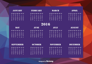 Abstract 2016 Calendar Illustration - Free vector #338369