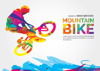 Mountain Bike - vector gratuit #338449