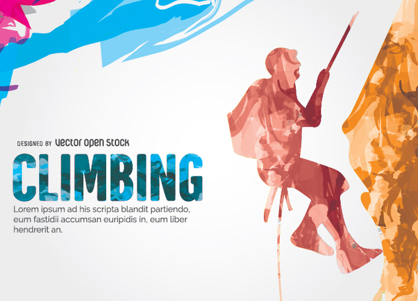 Climbing colorful design - Free vector #338459