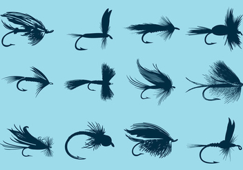 Fly Fishing Hooks - vector gratuit #338779