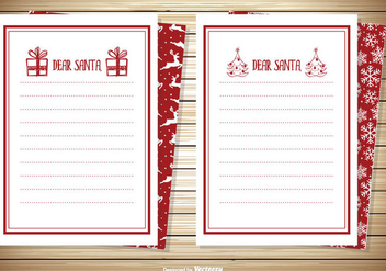 Dear Santa Note Card Set - Kostenloses vector #338809